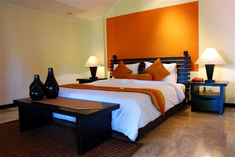 Orange Master Bedroom Decorating Ideas by Feature Wall Ideas For Master Bedroom Home Delightful