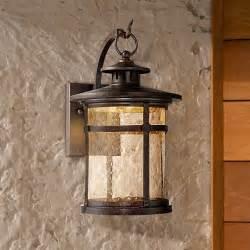 rustic outdoor lighting lantern callaway rustic bronze led outdoor wall light eu5x185