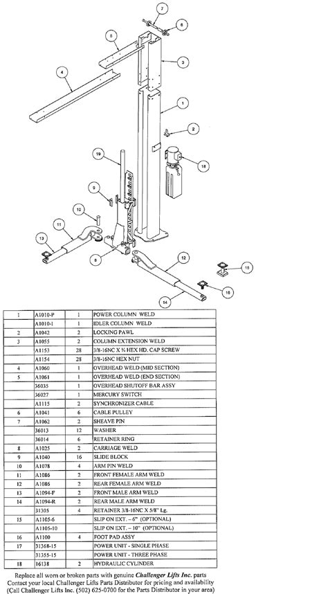 challenger e12 lift installation manual wiring diagrams