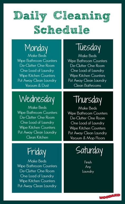 printable daily cleaning schedule 13 best images about mom chores list on pinterest free