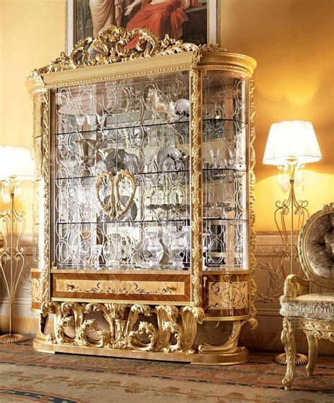 empire collection large rounded glass display cabinet
