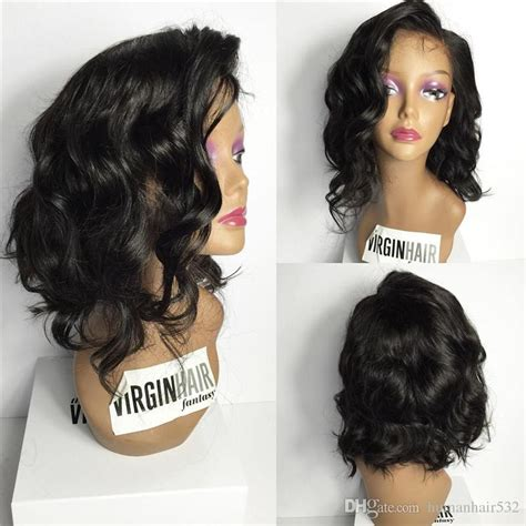 loose wave bob wig high quality short bob wig loose body wave silk base full