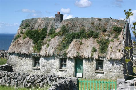 thatched cottage in inishmaan island aran islands flickr