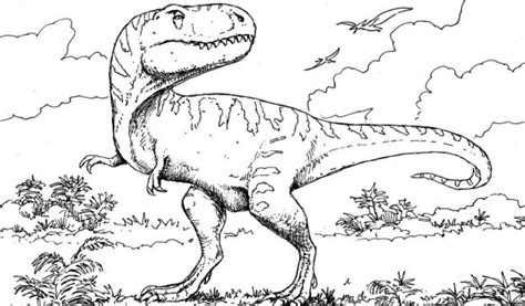 Realistic Dinosaur Coloring Page | best photos of realistic dinosaur coloring pages