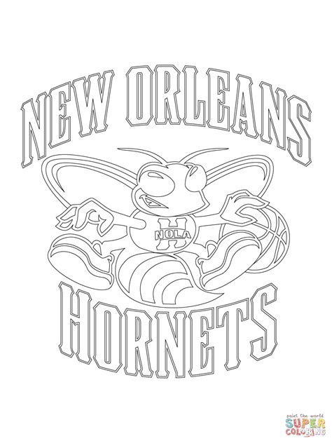 nba hornets coloring pages new orleans hornets logo coloring online super coloring