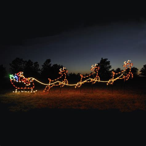 santa sleigh reindeer c7 led light display 16 8