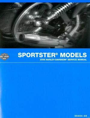 2006 Harley Davidson Sportster Motorcycle Service Manual