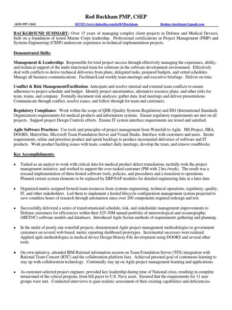 agile project manager resume doors software development building quality into your
