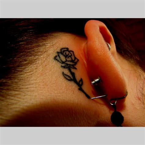 small tattoo behind ear 25 best ideas about yellow tattoos on