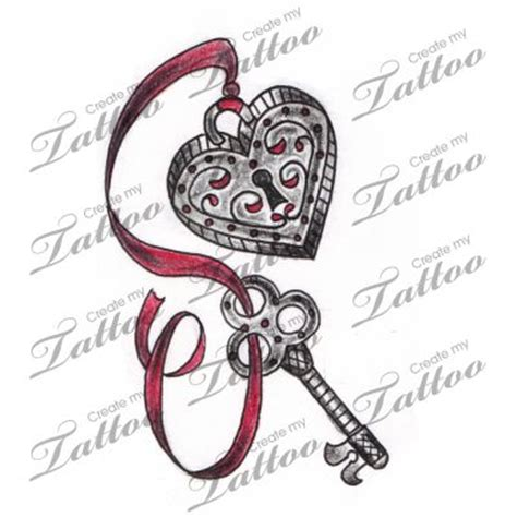 heart locket and key tattoo designs marketplace vintage locket and key