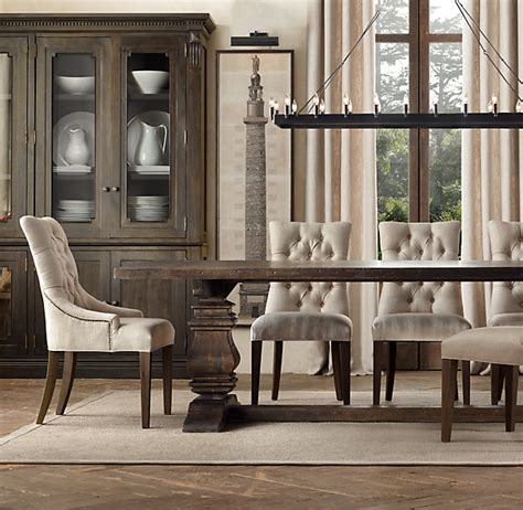 restoration hardware trestle table salvaged wood trestle rectangular extension dining table