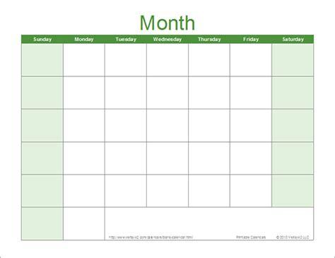 generic calendar template blank calendar template of blank calendar sle templates