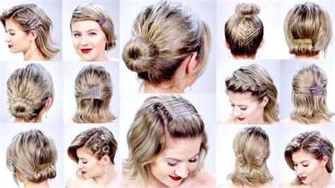 easy hairstyles updos for short hair easy hairstyles for short hair short and cuts hairstyles