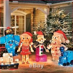 island of misfit toys christmas yard display 6 rudolph series misfit island toys 3d lighted yard display