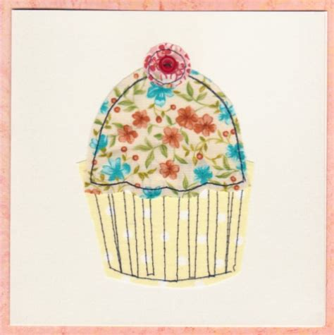 Handmade Cupcake Cards - handmade stitched cards windrush cards crafts