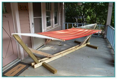 Wooden Hammock Stand Cheap great free elevated deck plans