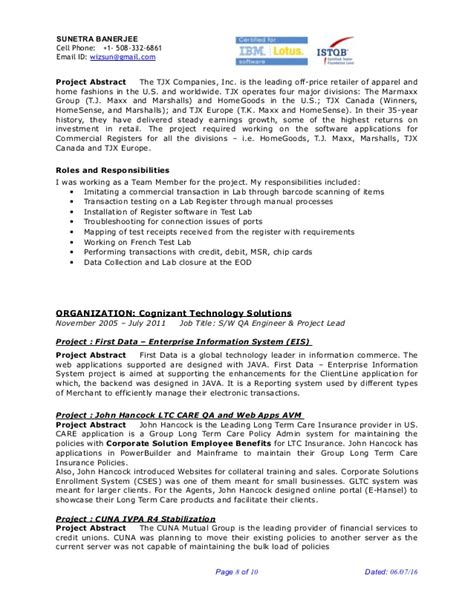 qa lead resume 28 images quality assurance resume qa