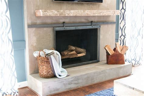 how to make a barn door style fireplace screen designer