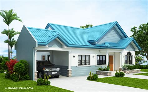 blue house design   bedrooms pinoy house plans
