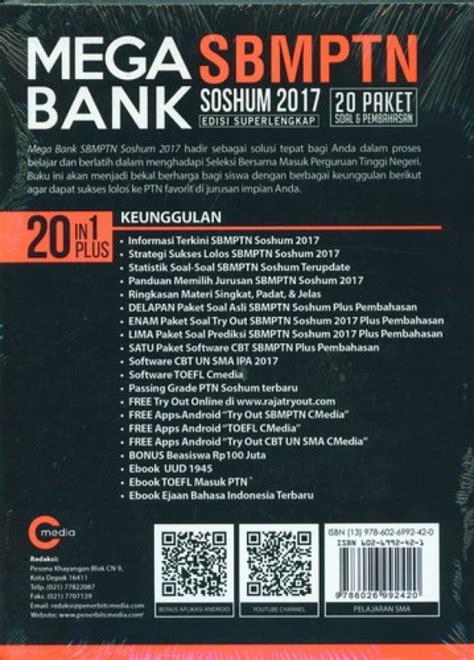 Mega Bank Sbmtpn Saintek 2017 bukukita mega bank sbmptn soshum 2017 edisi superlengkap
