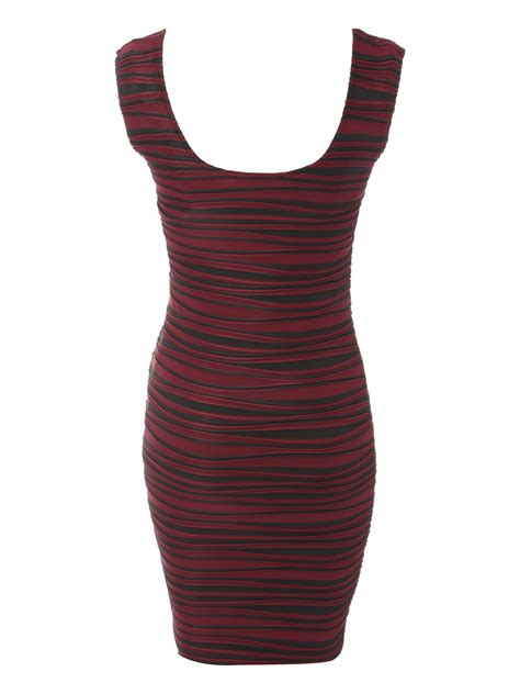 xhilaration wave texture pattern bodycon dress jane norman ripple wave bodycon dress in purple berry lyst