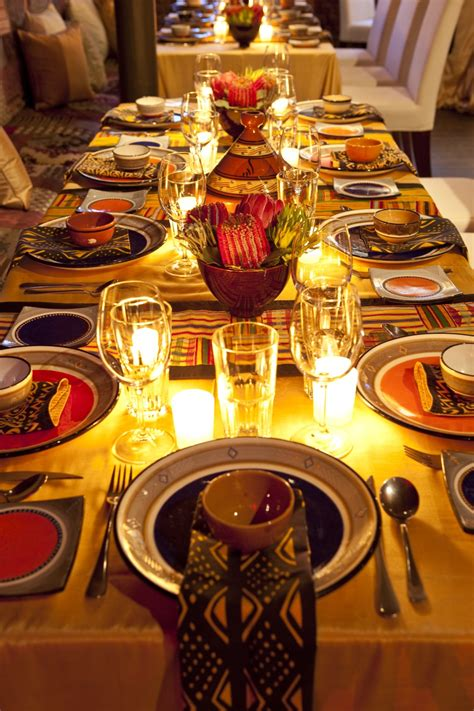 african themed decor a beautiful african table setting african recipes