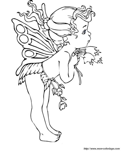 coloring fairy page baby fairy