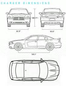 Dodge Charger Length And Width Car Blueprints 2011 Dodge Charger Dimension Sedan Blueprint