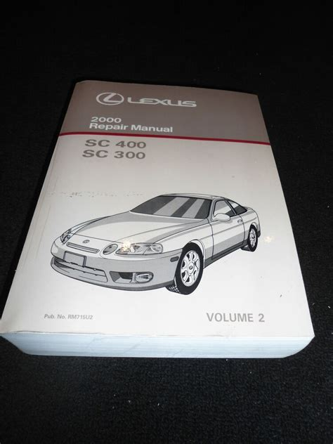 free online auto service manuals 2000 lexus sc electronic toll collection 2000 lexus sc400 sc300 sc 400 sc 300 service repair shop manual volume 2 ebay