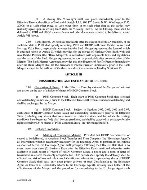 Bank Estoppel Letter 48295864 V10 1 Agreement And Plan Of Reorganization Dated As Of