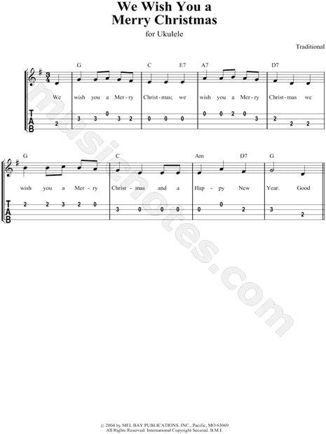 traditional english carol     merry christmas ukulele tab   major