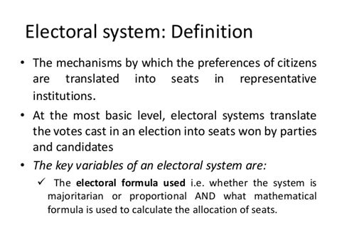 define systemize analysis of the first past the post electoral system