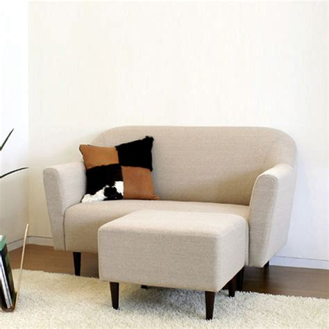 Japanese Minimalist Small Apartment Sofa Modern Fabric Small Apartment Sofas