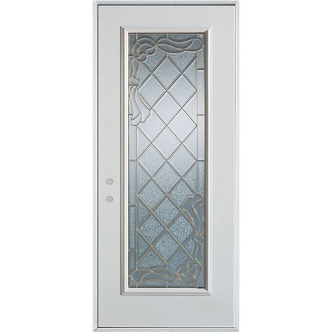 32 In X 80 In White 15 Lite Primed Steel Prehung Front 15 Lite Exterior Door