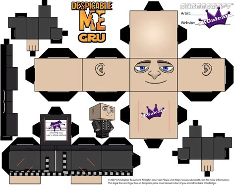 Minion Papercraft - despicable me gru by skgaleana by skgaleana on deviantart