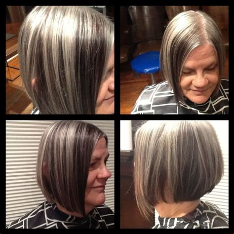 pictures of gray hair with dark lowlights lowlights in grey hair my future hair pinterest