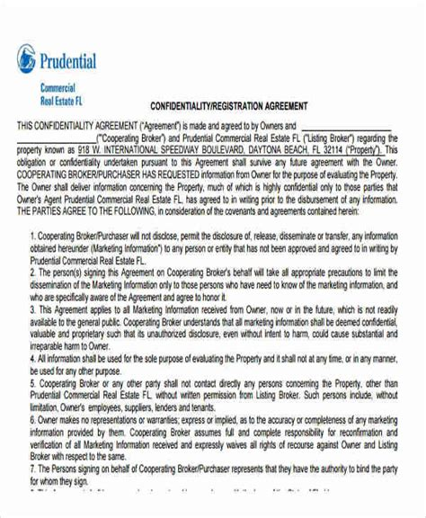 real estate confidentiality agreement 6 sle real estate confidentiality agreements free