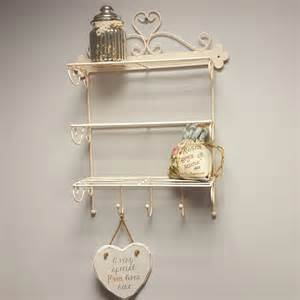 beige wall hanging shelf display kitchen bathroom storage