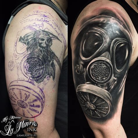tattoo fixers gas mask cover up kimmo angervaniva certified artist