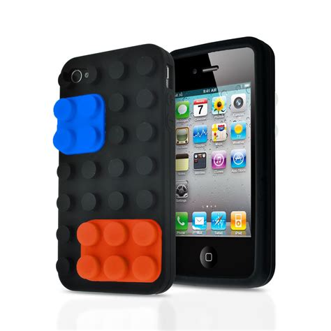 3d Building Blocks Brick Style Soft Silicone Iphone 6 Black 3d blocks brick building lego soft silicone stand cover for apple iphone 4s ebay