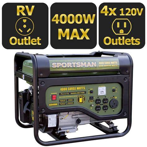 sportsman 4 000 watt gasoline powered portable generator