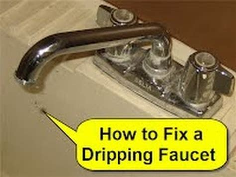how to repair a dripping kitchen faucet how to fix a dripping faucet youtube