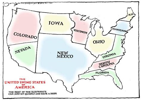 swing states are states that generally the winner takes all why the swing states matter