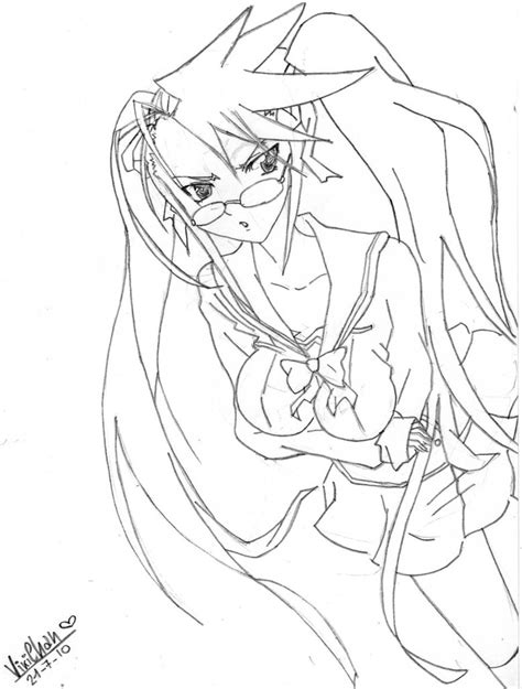 highschool of the dead coloring pages high school of the dead saya by vikialele chan on deviantart