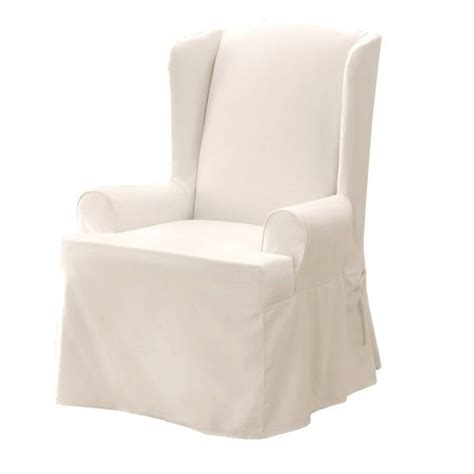 wing chair slipcover white basketball fenomenal player slipcovers for wing chairs