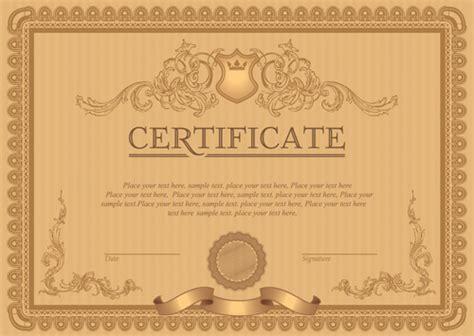 free certificate design templates classical styles certificate template vectors free vector
