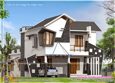 weird house plans unique house exterior in 2154 square feet kerala home design and floor plans