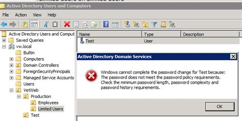 Domain Controller Disable Password Complexity
