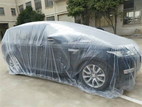 Plastic Car Cover For Snow Lldpe Pe Large Clear Plastic Autos Road Temporary