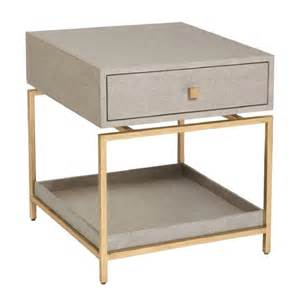 Gray Modern Bedroom - alexander side table flax gold